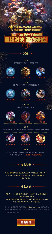 KA-CN海外王者荣耀巅峰对决,邀您来战!